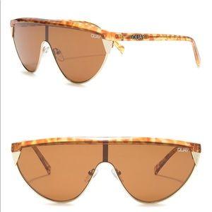 Quay Australia Goldie tortoise frame sunglasses